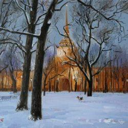 Санкт-Петербург. Зимний Питер. Адмиралтейство. Зимний вечер