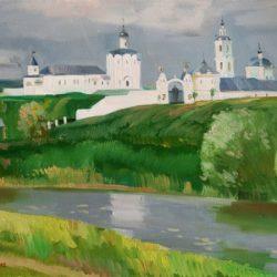 Река. Белая церковь.