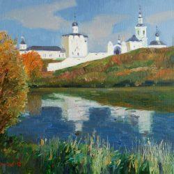 Золотая осень. Река. Глубокая река
