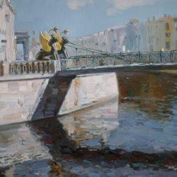 Грифоны. Летний день в Петербурге. Мост