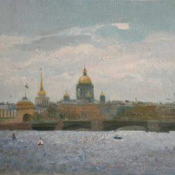 Дворцовый мост. Мосты в Санкт-Петербурге. Река Нева. Исаакиевский собор. Адмиралтейство