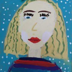 Портрет мамы. Дети рисуют