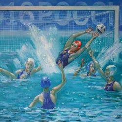 Водное поло. Женщины в бассейне. Спорт и женщины