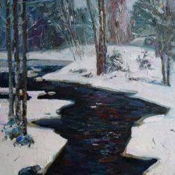 Река Юли-Йоки. Оттепель. Черная речка. Ленинградская область
