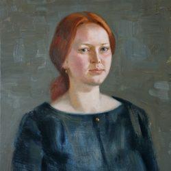 Портрет молодой девушки с рыжими волосами