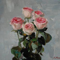 Букет. Розовые розы. Бутоны роз