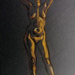 женская фигура, обнаженная модель, наброски, рисунок фигуры человека