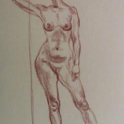 рисунок фигуры человека, обнаженная модель, наброски