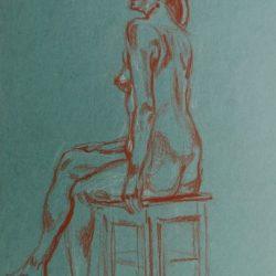 рисунок фигуры человека, обнаженная, модель, наброски