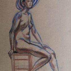 модель, набросок фигуры человека, молодая женщина