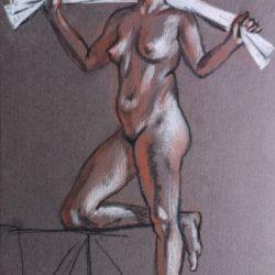 женская фигура, набросок, рисунок