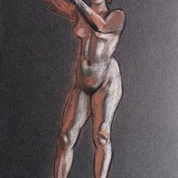 женская фигура, набросок, рисунок, рисунок человека